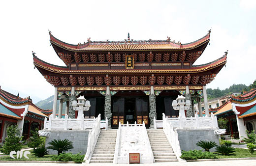 南岳朱陵宫画栋雕粱(图库)
