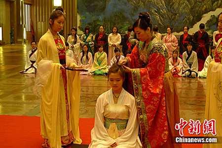 """重唤传统记忆 上巳""""女儿节""""再现西安大明宫"""