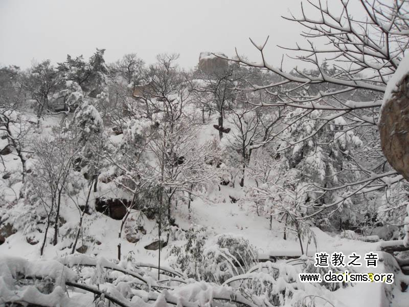 昆嵛山春雪