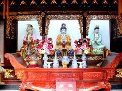 上海白云观的神像(图库)