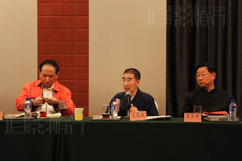 北京市道协副会长王成亚道长在分论坛讲话