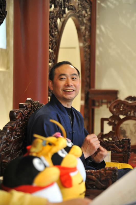 张继禹会长在两会之前接受腾讯网黄胜友采访