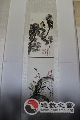 参加华阴西岳庙书画展
