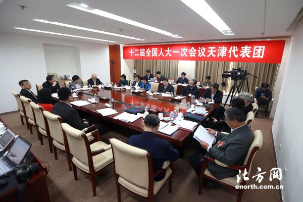 张继禹道长在十二届全国人大一次会议分组会上发言