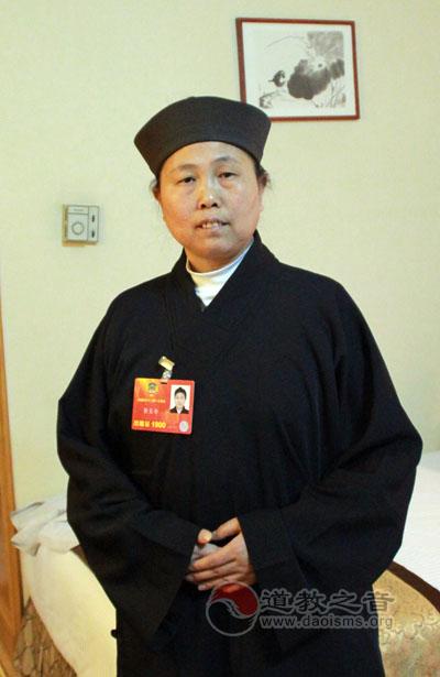 黄至安道长在政协十二届一次会议提案