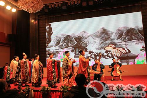 西安八仙宫经乐团参加市统战系统迎新春茶话会演出