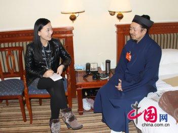 2014两会中国网政协频道专访黄信阳道长