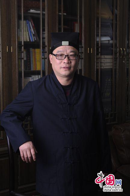 全国人大代表、中国道教协会副会长张金涛在接受中国网采访