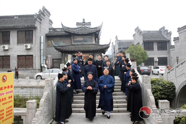 如皋道协2014届道教高功音乐学习班教师组抵达灵威观