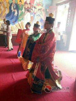 包头道教韩祖宫为云南鲁甸地震灾区举办祈福平安法会