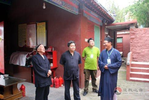 中国道教协会黄至杰副会长考察肥城桃源观