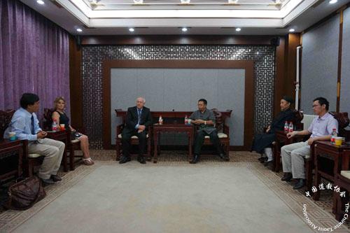 英国斯旺西大学副校长一行拜会中国道教协会