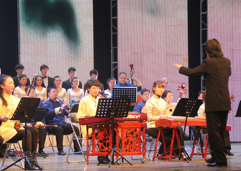 香港道乐团、兰州文理学院音乐舞蹈学院合唱团联合《倒卷帘》《乐诵(道德经)第一章》