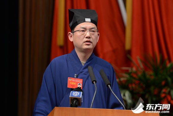 吉宏忠委员在代表宗教界发言