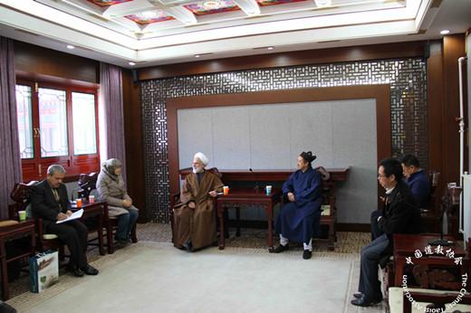 伊朗客人拜访中国道教协会