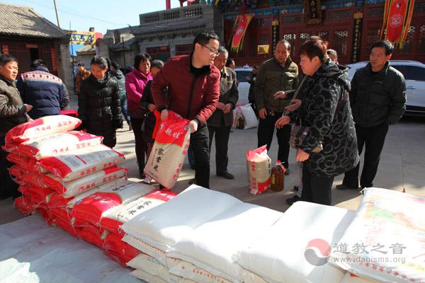 陕西榆阳区道协举行春节送温暖慈善活动