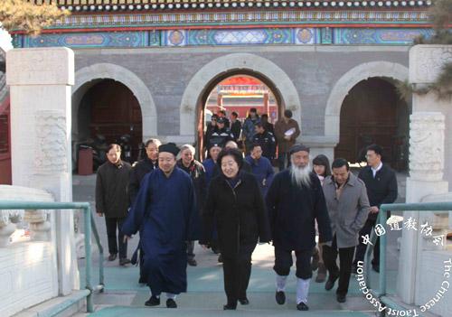 孙春兰春节前夕走访中国道教协会