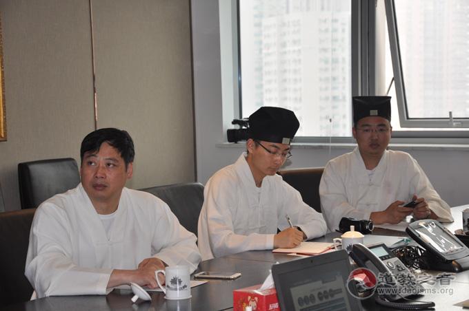 刘巧林道长一行赴上海觉群文教基金会参访