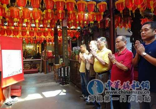 """""""海峡两岸妈祖信众祈福行""""台北士林慈諴宫""""画祭""""妈祖"""