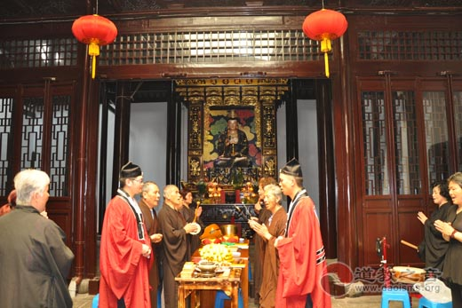 上海城隍庙慈爱功德会在虹庙举办道教夏令养生讲座