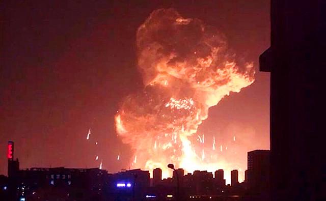 """我站第一时间发布微信""""天津塘沽大爆炸 道教界朝真拜斗在祈福&"""