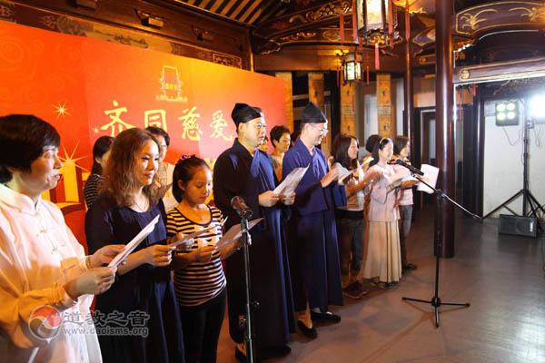 上海城隍庙举行中秋赏月晚会同唱明月几时有
