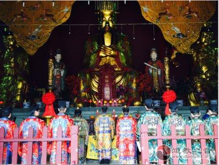 """上海岳王庙举行""""冬至普度黄箓大斋""""法会"""