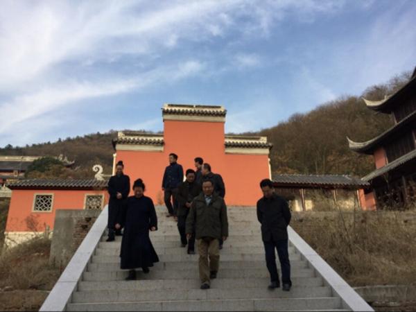 江苏省宗教局副局长王在郑调研茅山乾元观