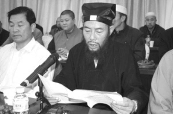 宁夏回族自治区道教协会副会长张宗峰道长