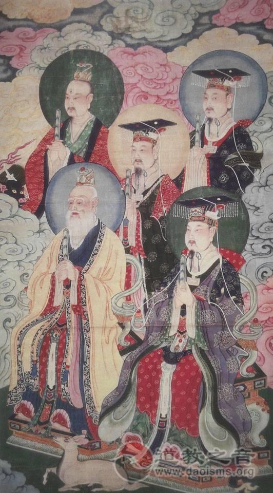 神霄九辰上帝(左)