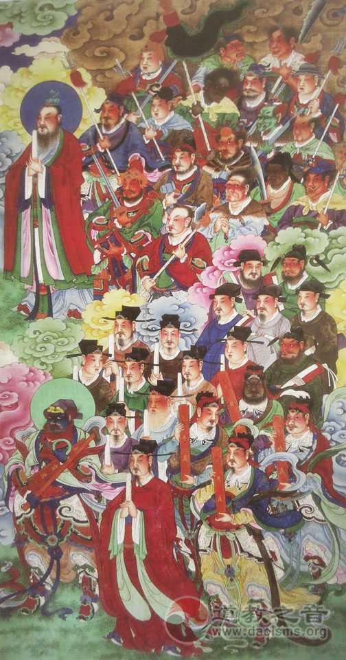 诸神朝元图(左)