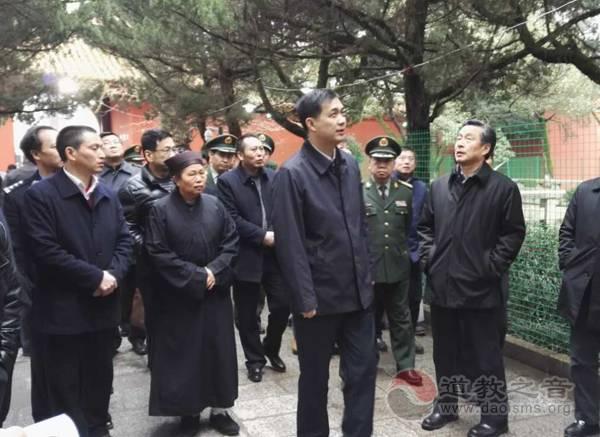 湖南省副省长戴道晋一行检查指导南岳大庙工作