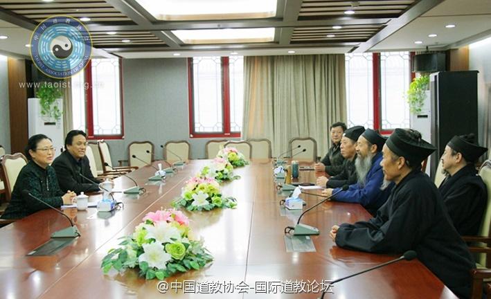 全国政协副秘书长张秋俭一行慰问中国道协