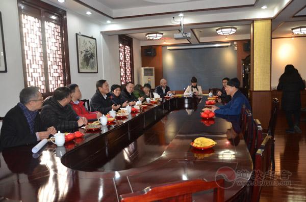 上海黄浦区领导视察上海白云观春节开放工作