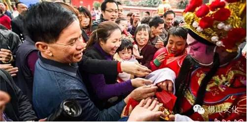 广东佛山禅城祖庙举行年初五财神诞活动