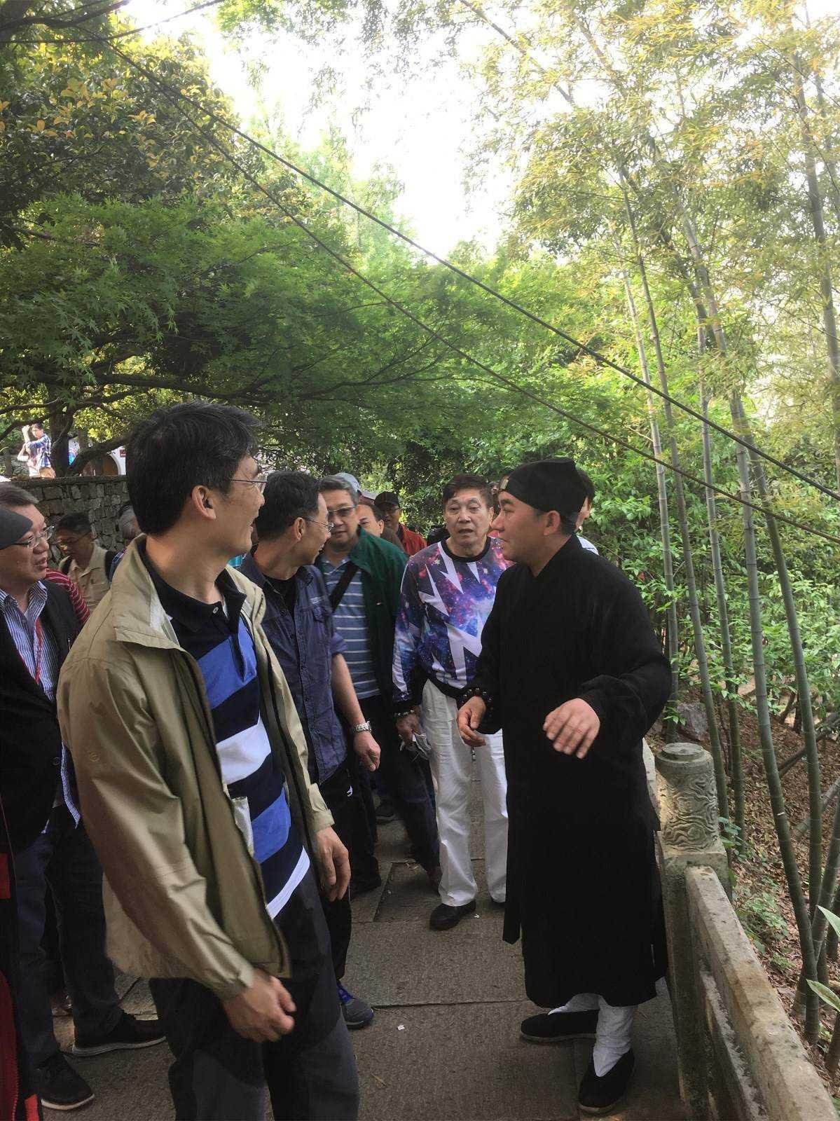 香港啬色园参访团参观访问浙江省杭州道院