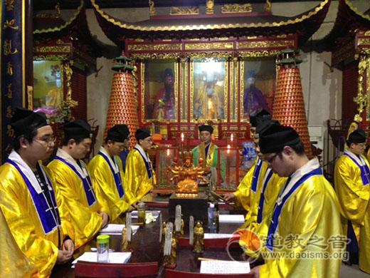 上海浦东崇福道院举行2016三月半圣堂庙会