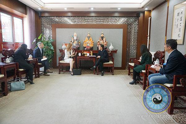 加拿大驻华使馆新任公使参访中国道教协会