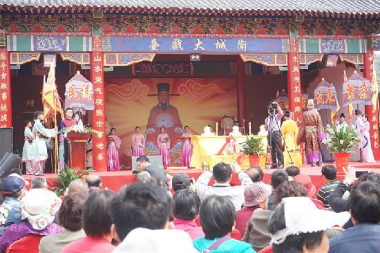 山东青岛灵山卫举办第五届城隍庙会庆典活动