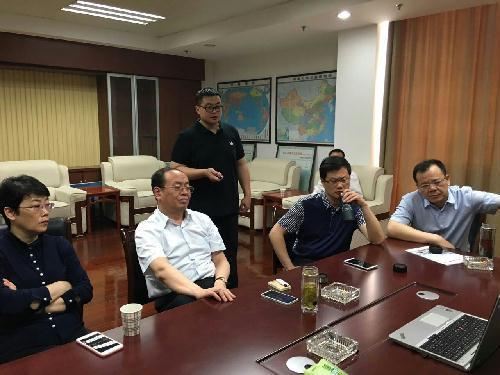 江苏省如东县领导听取上真观二期工程汇报