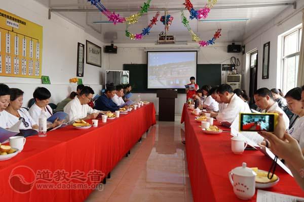 上海慈爱公益基金会一行到肥城桃源观参访交流