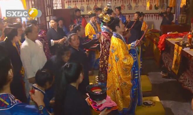 陕西省西安市金仙观举行开光祈福冠巾法会