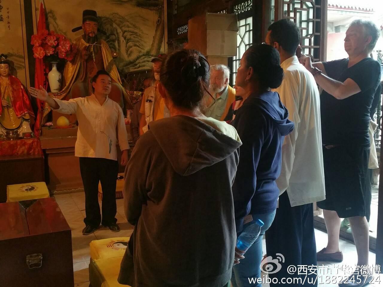 法、英道教信徒参访团到西安青华宫参访交流