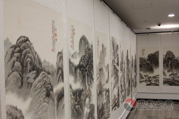 """郭三立""""清心""""圖畫展在京舉行"""