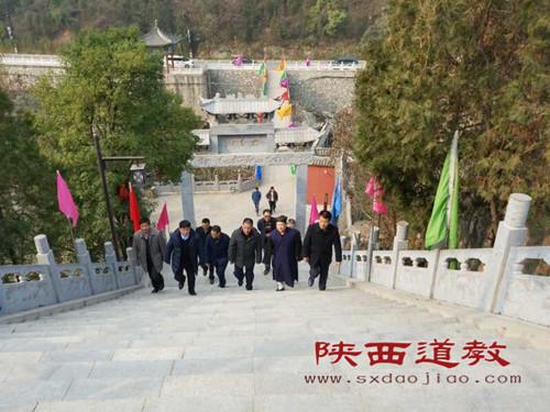 陕西省宗教局副局长李晓建调研太白山太白庙