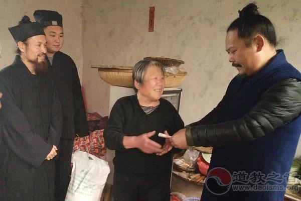 山东济南市道协北斗星爱心慈善行慰问活动