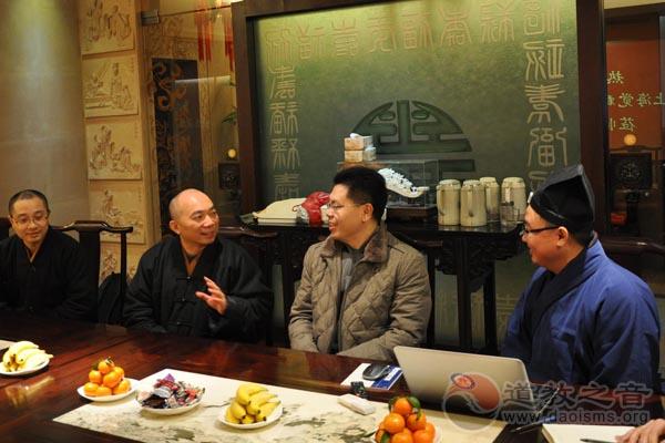 上海市觉群文教基金会上海城隍庙交流学习