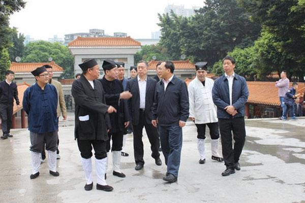 广东广州市领导到黄大仙祠慰问市道教协会