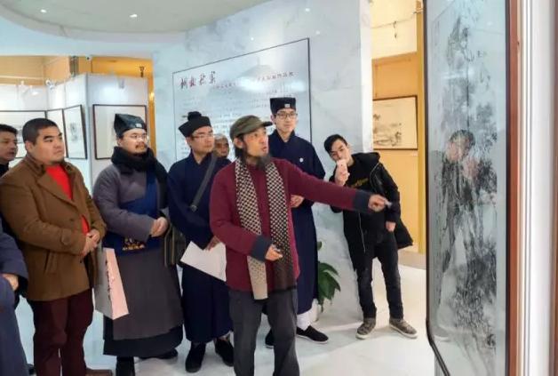 浙江道教学院师生国画展在天台县文化馆举行