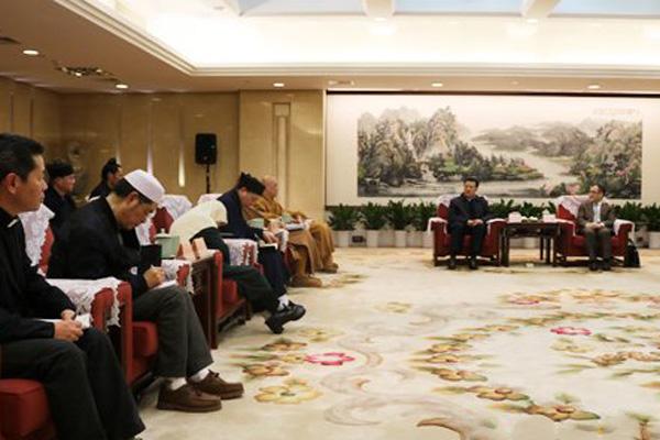 浙江省民宗委召开宗教界代表人士新春座谈会